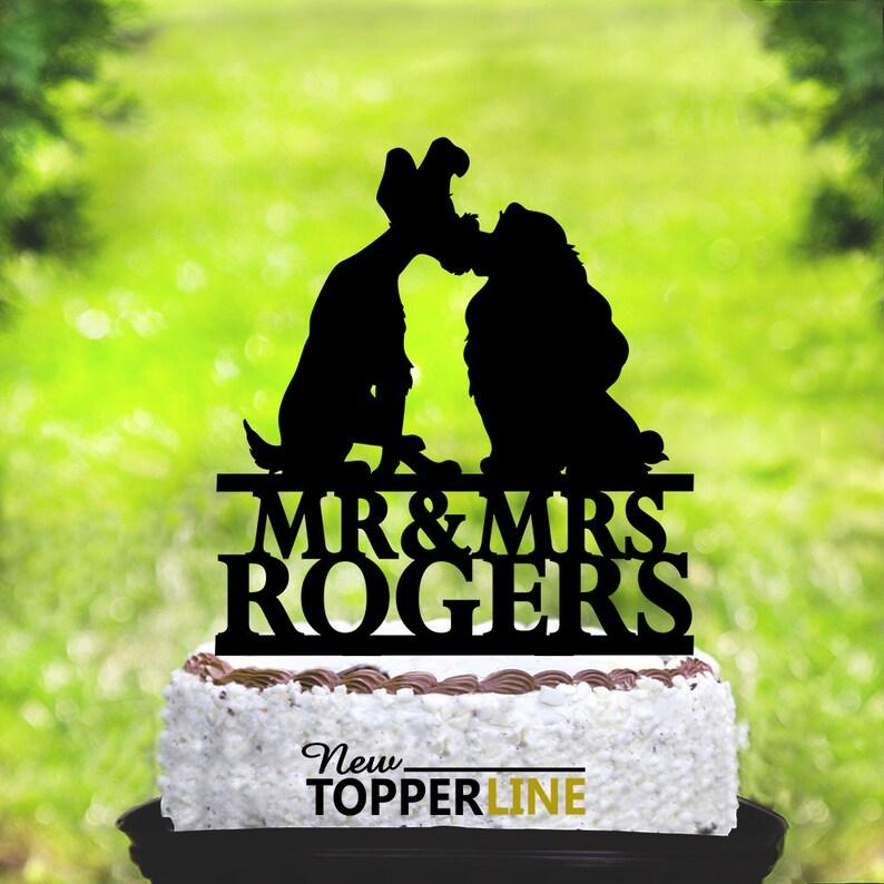 Lady And The Tramp Cake Topperdisney Wedding Cake Etsy