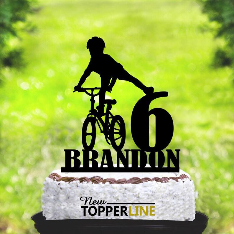 Kids Bike Cake TopperPersonalised Mountain Biking