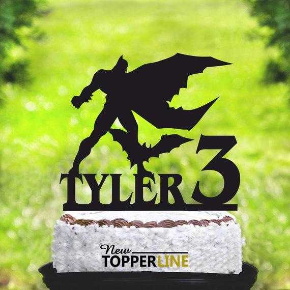 Admirable Batman Birthday Cake Topperbatman Cake Toppercake Topper Etsy Funny Birthday Cards Online Elaedamsfinfo