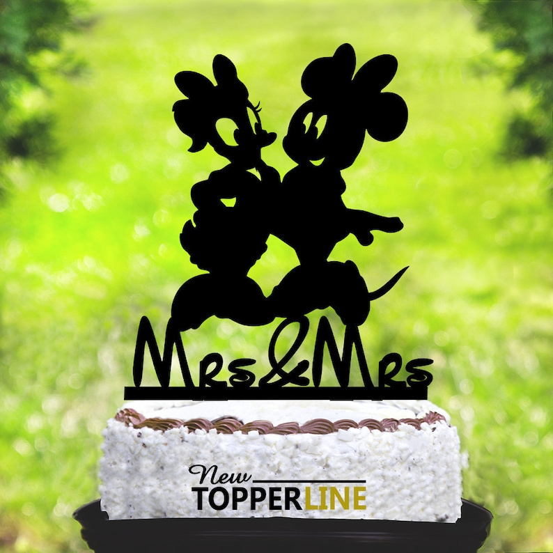 Prime Minnie Mouse Daisy Duck Cake Topperdisney Wedding Cake Etsy Personalised Birthday Cards Paralily Jamesorg