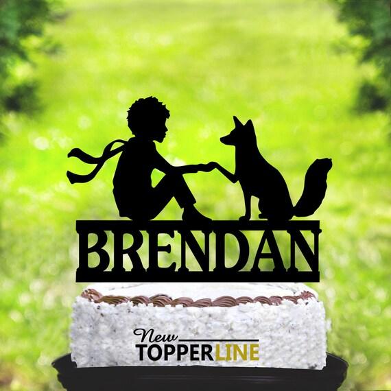 Pleasing Little Prince Birthday Cake Topperlittle Prince Cake Etsy Personalised Birthday Cards Bromeletsinfo