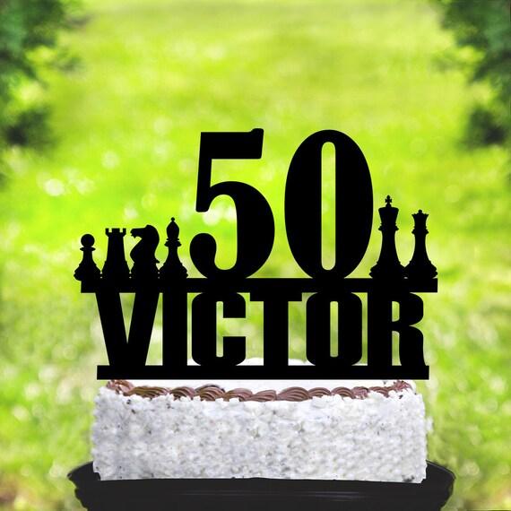 Chess Cake Topperchess Birthday Cake Topperchess Party 50 Etsy