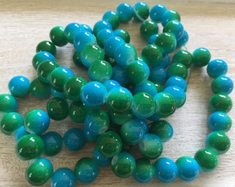 Gorgeous Blue and Green Glass Beads