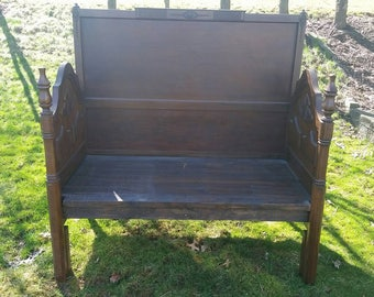 Handmade Bench, Entryway Bench, Statement Piece,  Extra Seating, Repurposed Vintage Headboards, Reinvented Headboards, Solid Wood Bench