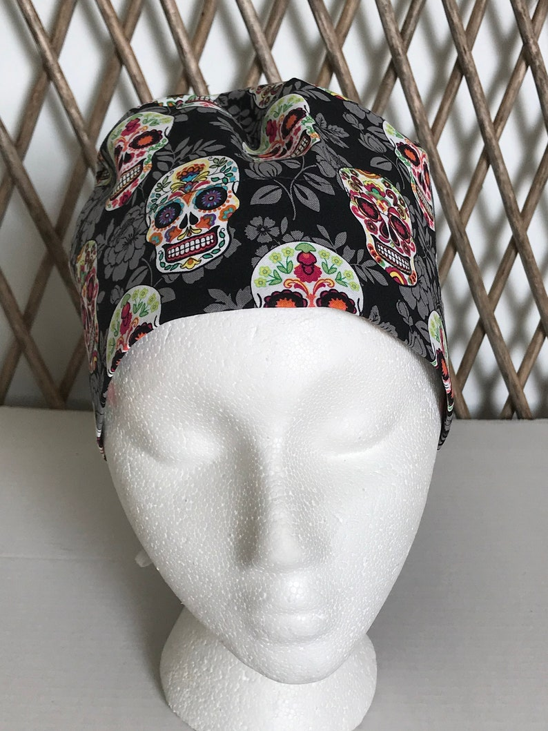 22f25d81eae SUGAR SKULL Woman surgical cap for doctor scrub hat for