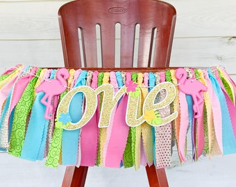 Custom First Flamingle Cursive Banner  Gold Glitter Script First Birthday Wall Sign  Flamingo 1st Birthday PartyPersonalized Tropical One