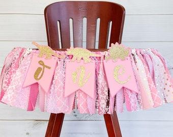 Sweet Pink Lemonade High Chair Birthday Banner Pink Citrus Lemon Banner Fruit First Birthday High Chair Banner