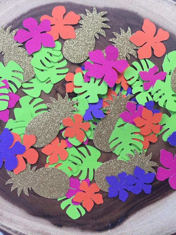 Tropical Party Decorations Tropical Confetti Luau Theme Etsy