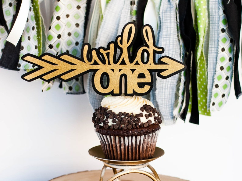 Wild One Cake Topper First Birthday Decorations Boy