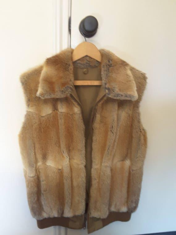 Vest bomber fur jacket