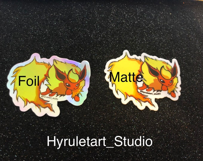 Flareon Holo or Matte vinyl Stickers