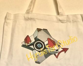 Bat and Devil Companion Canvas Tote Bag