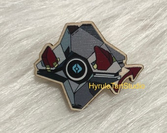 Deviled Companion Wood Pin