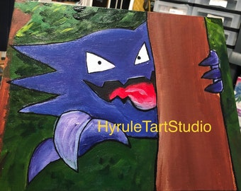 Haunter, Ghost Acrylic Painting