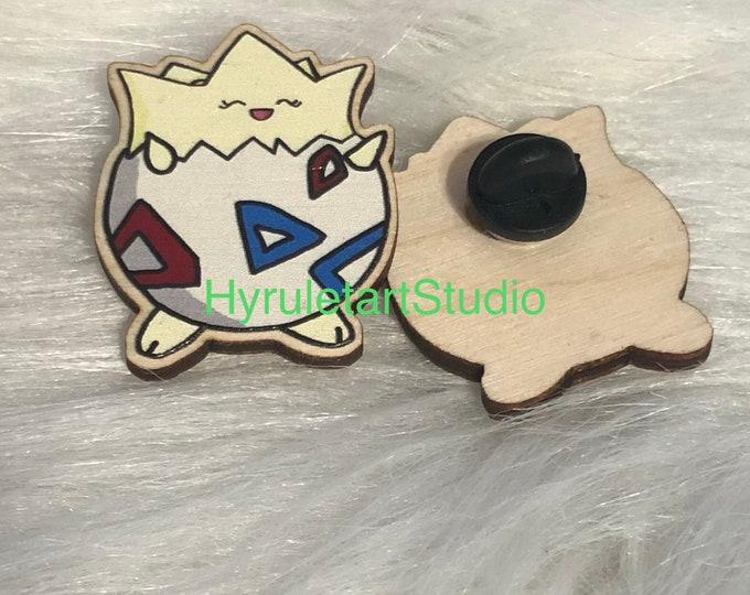 Togepi Wood Pin
