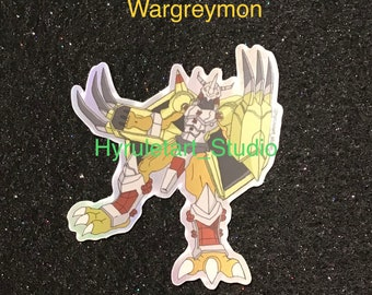 Wargreymon Holographic Digimon Stickers