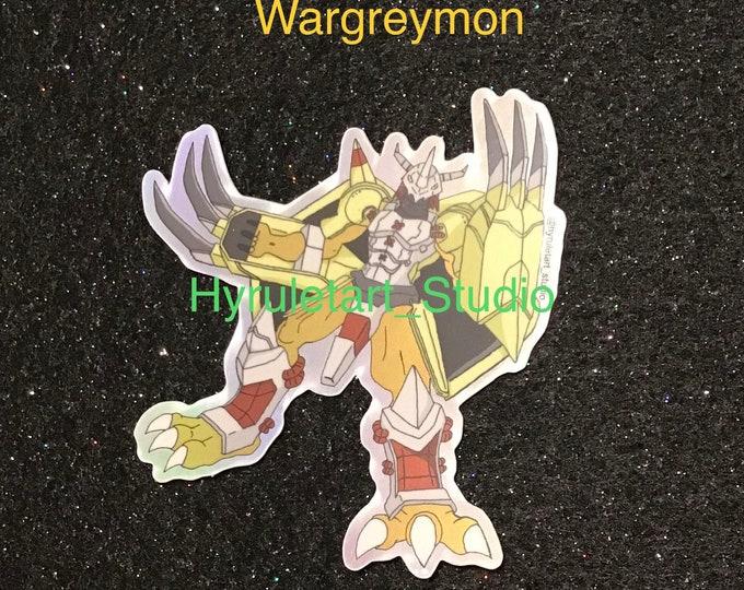 Wargreymon Holographic Digimon Stickers