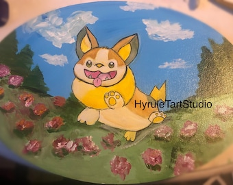 Yamper, acrylic painting on wood