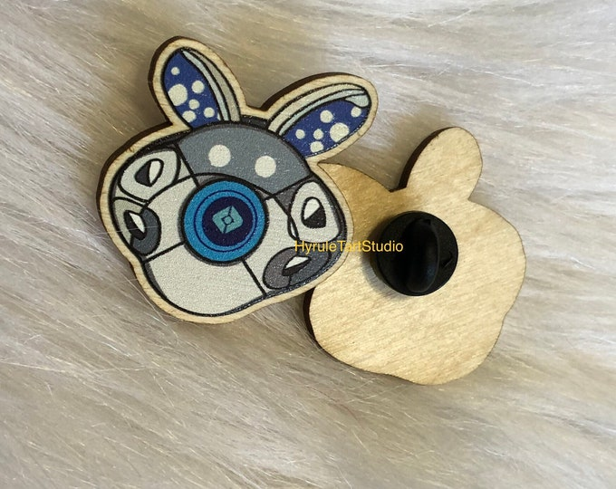 Bunny Campanion Shell, Wood Pin