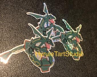 Rayquaza Glitter Sticker