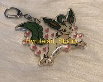 Leafeon Keychain Charm