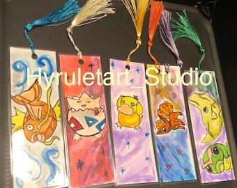 Handmade Pocket Monster bookmarks!