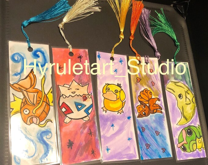 Handmade Pocket Monster bookmarks!