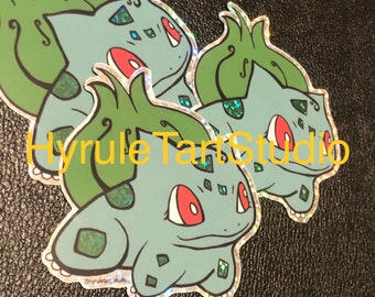 Bulbasaur Glitter Stickers