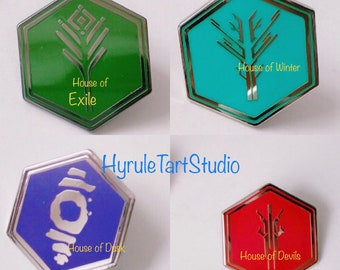 Fallen house pins Exile, Winter, Devils and Dusk