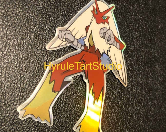 Blaziken Holographic Sticker
