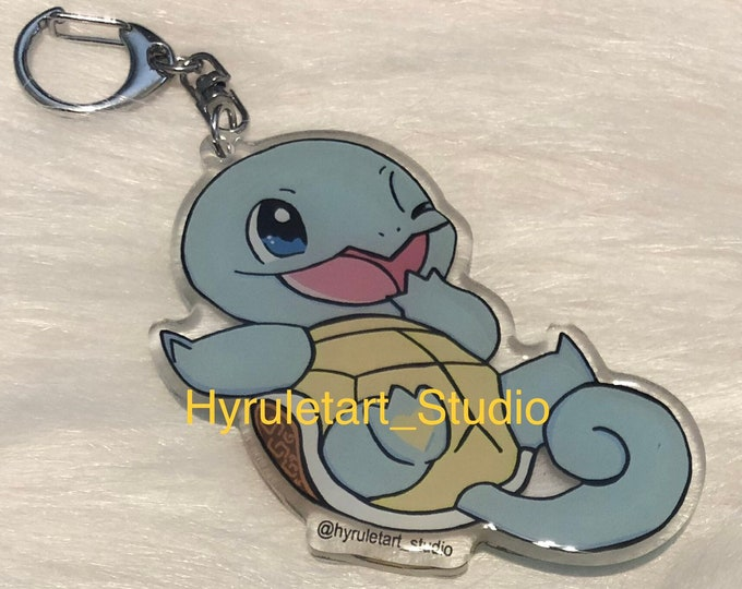 Squirtle Keychain Charm