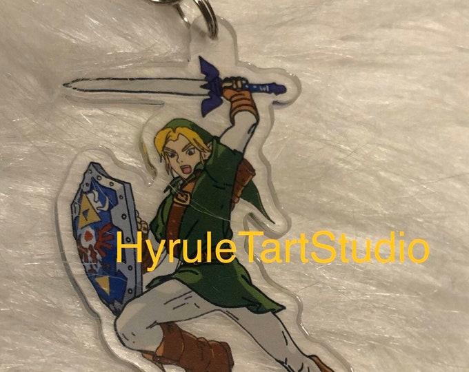 Link Green Tunic, Keychain Charm