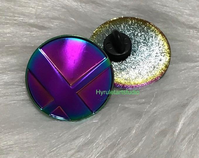Smash Ball Rainbow Metal Pin