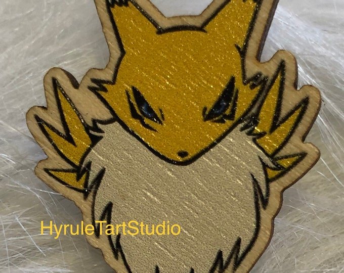 Renamon Digimon Wood Pin