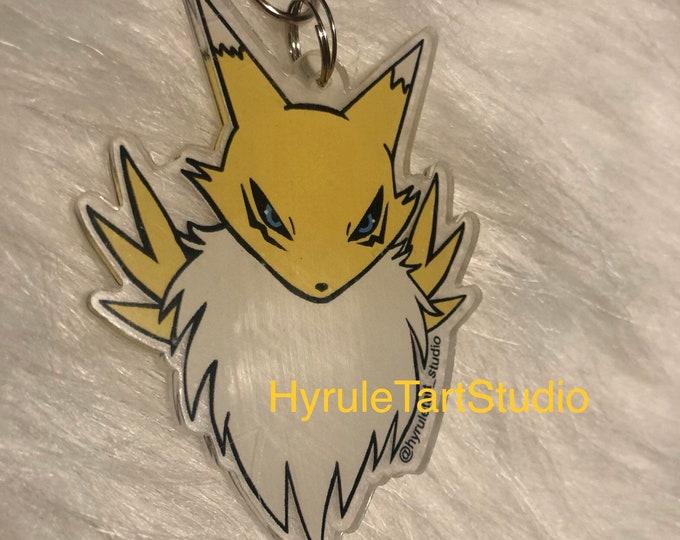 Renamon Digimon Keychain Charm