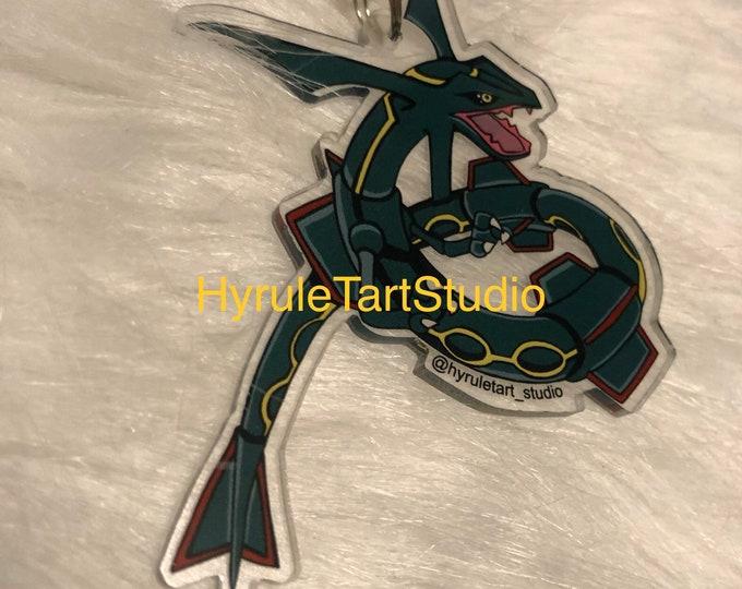 Rayquaza Keychain Charm