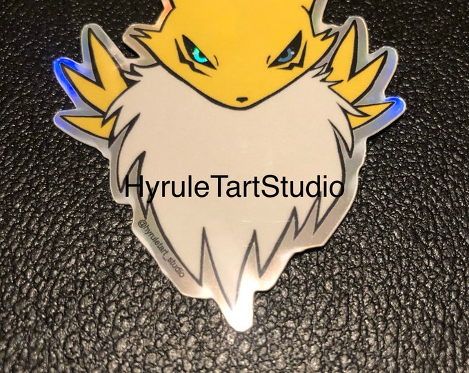 Renamon from Digimon Holographic Sticker