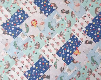 50 x 5 Inch Squares Cotton Patchwork Fabric Charm Pack - Wild About You