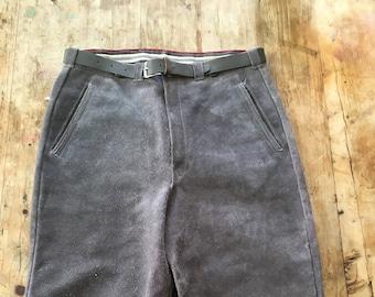 Vintage Gray Suede Lederhosen Knickerbockers