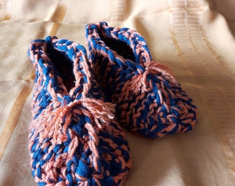 Slippers for men in wool and phentex poinrture 9-10