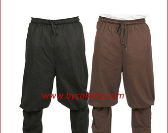 Free shipping : Medieval viking renaissance larp pirate trouser THORKEL 908162  . Made in Turkey by  bycalvina.com