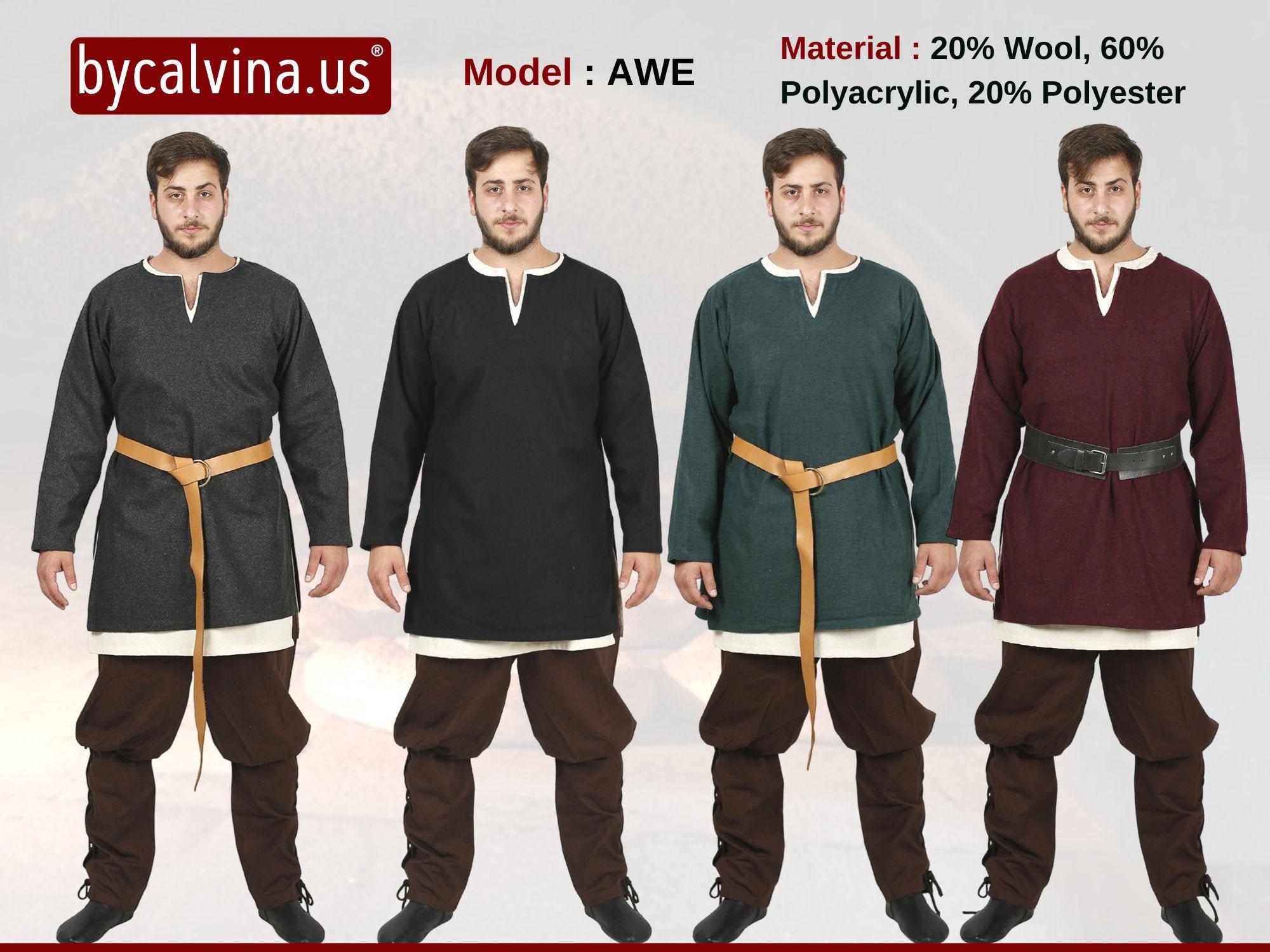 Medieval//LARP//SCA//Re enactment//Peasent MERCHANT Long Tunic ALL SIZES Inc XXXL