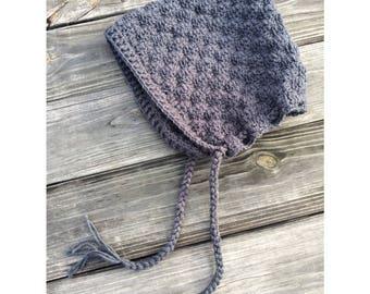 Pixie hood/adult pixie hood/women's pixie hood/winter hat/ crochet hood/ready to ship/crochet bonnet/women's winter hat/ Christmas gift