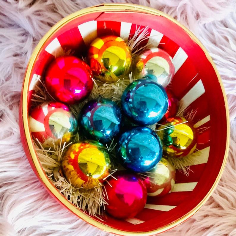 Vintage Shiny Brites Ornaments rainbow assortment