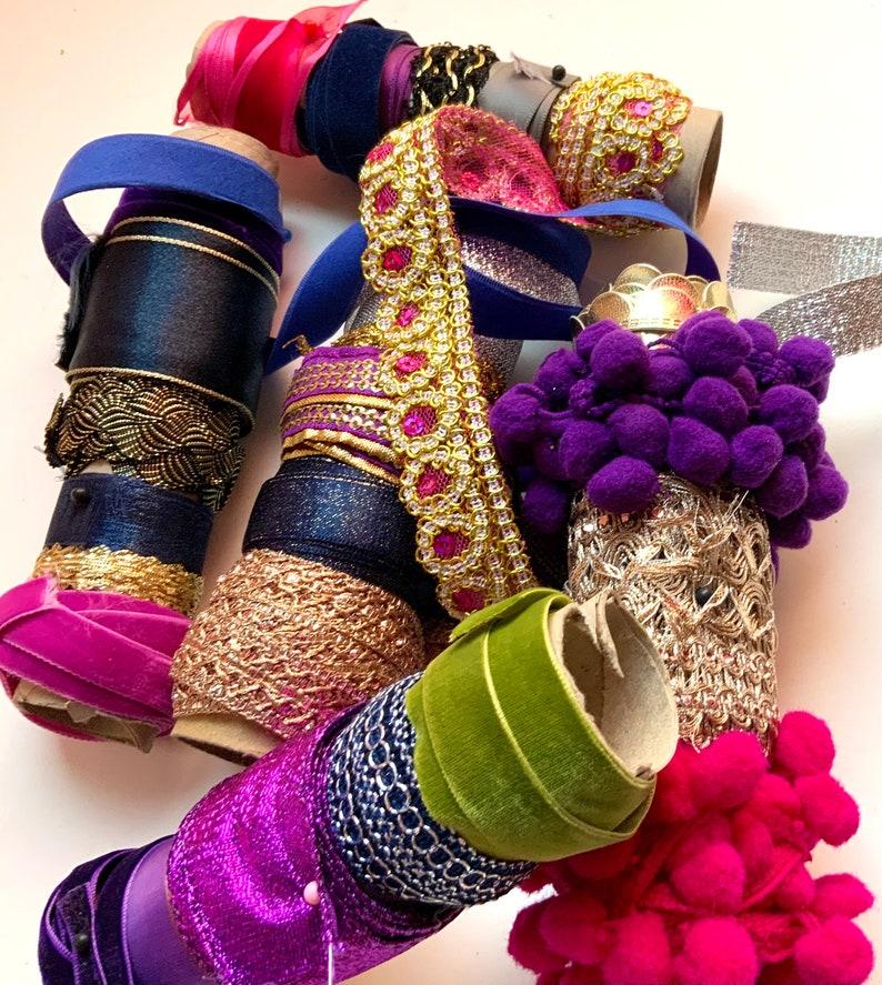 feet Electric Bollywood Ribbon /& Trim Super Sampler 100