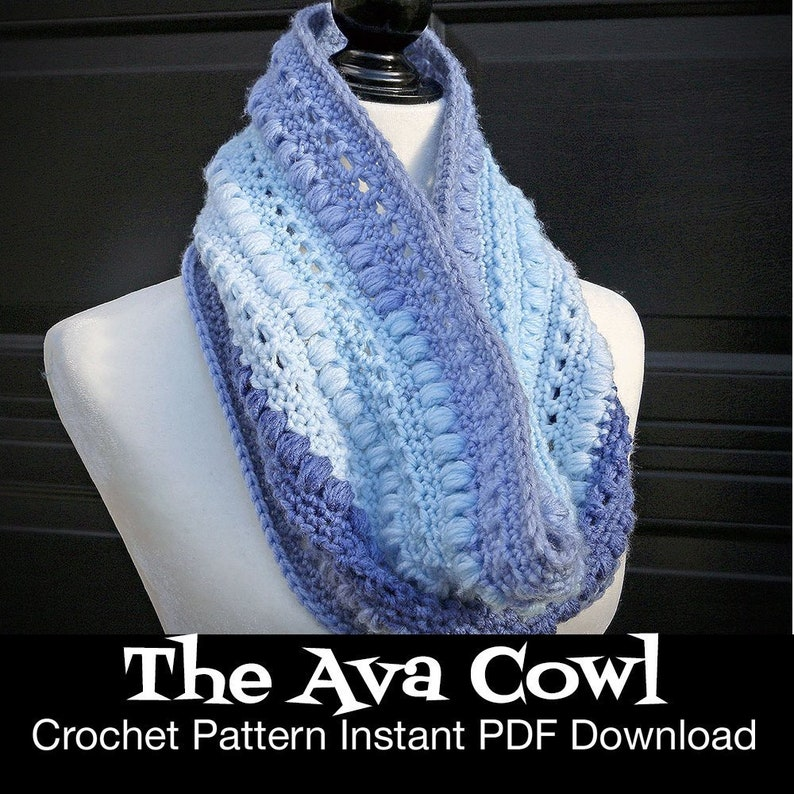 The Ava Cowl  Crochet Pattern Instant Download image 0