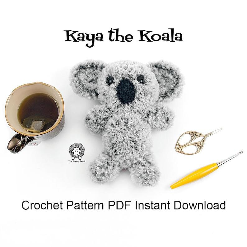 Kaya the Koala  Crochet Pattern PDF Instant Download image 0
