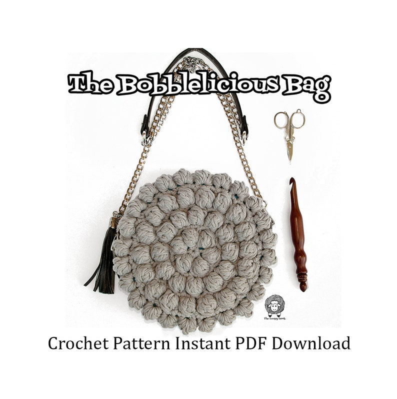 The Bobblelicious Bag  Crochet Pattern Instant PDF Download  image 0