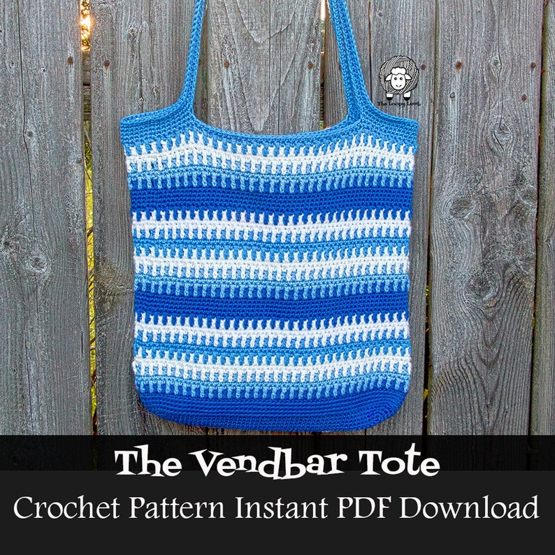 The Vendbar Tote Reverisble Tote Bag Crochet Pattern image 0