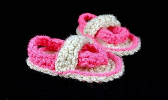 b0842eb7a99f00 Crochet Baby Sandals Baby Flip Flops Newborn Baby Sandals